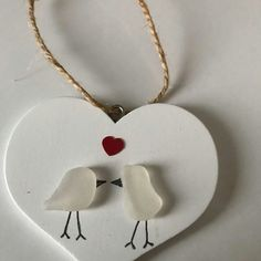 Sea Glass Love Bird Plaque £5.00 White Sea, Beautiful Gifts, Love Birds, Sea Glass, Gifts For Friends, Seaside, Gift Guide, Heart Shapes, Valentines Day