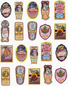Esta vez os traigo etiquetas vintage pero las que se ponían en perfumes, jabones....  Me gustan mucho más que los diseños modernos  Espero q...