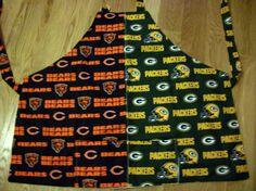 Combination Chicago Bears Green Bay Packers by KuteasaButtonKrafts, $14.99