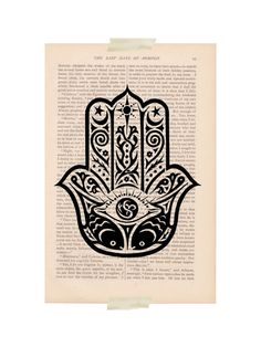 Hamsa Hand evil eye dictionary art print  by ExLibrisJournals, $9.00
