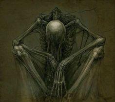 """"""" thinking2 """" by skirill@ deviantart dark fantasy art"""