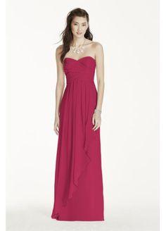 Crinkle Chiffon Dress with Cascade Skirt  W10840
