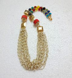 Indian Ethnic Beaded Necklace With Jaipur Beads by uDazzle