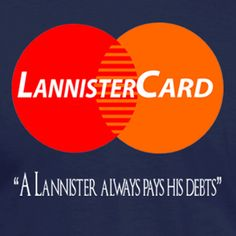 Funny Lannister Card T-Shirt | Twisted Monkey Apparel by TwistedMonkeyApparel on Etsy