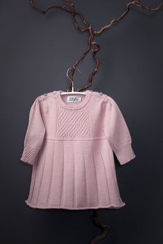 Saga babydress in softest italian merino wool for the little princess by Mole Little Norway <3
