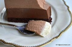Tort trio de ciocolata reteta autentica pas cu pas | Savori Urbane Dessert Bars, Tiramisu, Mousse, Sweets, Cake, Ethnic Recipes, Food, Chocolates, Bavarian Cream