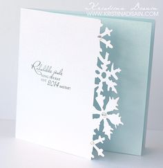 christmas card blue,  with snowflakes