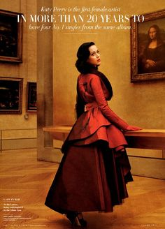 modelled by Katy Perry, photographed by Annie Leibovitz and styled by Jessica Diehl for Vanity Fair US June 2011.