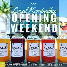 Credit to @ygfarmersmarket : from @drinkmorelocal -  Local Kombucha offered at our opening weekend this Sat & Sun 8am-4pm @ygfarmersmarket in Hollywood Florida. Both 465 outside main entrance. Five flavors available plus one secret flavor.  We accept cash credit Apple and Android pay. Be sure to take your best photo and tag us on Facebook & Instagram to be entered in our weekly drawing for a free 6-pack. Winners will be selected at random on our live Facebook and Instagram feed each Thursday…