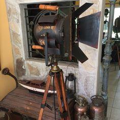 antiguo reflector cine decada del 40- manes marzano collection design  vintage searchlight