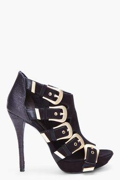 Pierre Balmain Black Havana Heels