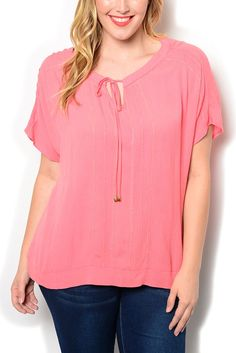 http://www.dhstyles.com/Coral-Plus-Size-Casual-Sheer-Tie-able-Keyhole-Neck-p/coc-2512x-coral.htm