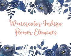 """Check out new work on my @Behance portfolio: """"Watercolor Illustration - Indigo Flower Elements"""" http://be.net/gallery/60804253/Watercolor-Illustration-Indigo-Flower-Elements"""