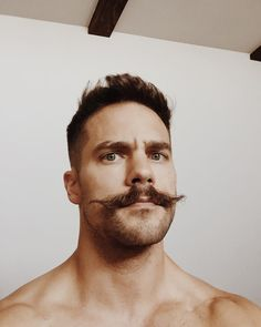 If he's a hairy, hot + beautiful man. Mens Facial, Facial Hair, Moustaches, Brant Daugherty, Mustache Styles, Sexy Beard, Awesome Beards, Beard Tattoo, Beard No Mustache