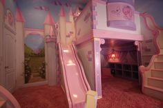 Miley's Dream Castle bedroom created by @PoshTots - From Rev Run's Renovation on @DIY Network