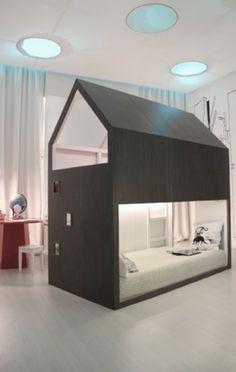 Awesome loft bed using IKEA KURA #ikea #hack #DIY