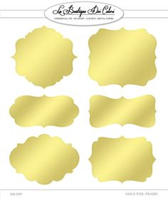 Clip Art Gold Foil Frames Labels tags by LaBoutiqueDeiColori