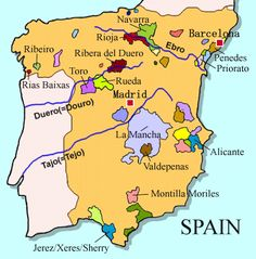Wine Maps- Spain this map is basic but it is great for a quick overview