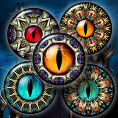 Rift Eyes  2 Digital Collage Sheets CG646  15 by CobraGraphics, $4.50