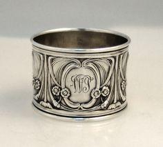 Art Nouveau Napkin Ring Sterling Silver 1900