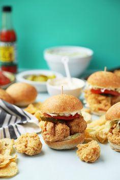 Fried Shrimp Po'boy Sliders - The Candid Appetite