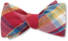 Men's Bow Ties: Red New Canaan Plaid: Beau Ties Ltd of Vermont.