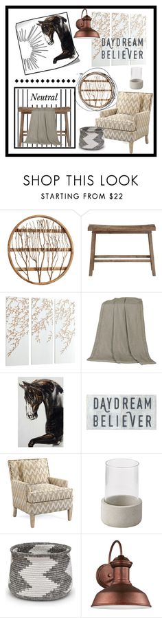 """Neutral Farmhouse"" by doragutierrez ❤ liked on Polyvore featuring interior, interiors, interior design, home, home decor, interior decorating, Cyan Design, Forum, Boraam and HiEnd Accents"