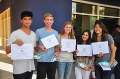 Successful High School Summer Scholars receive a Certificate of Completion.
