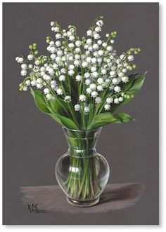 Lily of the Valley May Flowers, Beautiful Flowers, Lily Of The Valley Flowers, Arte Floral, Tropical Flowers, Botanical Prints, Flower Art, Floral Arrangements, Glass Vase