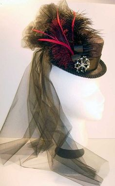 z Sold Ladies Petite Victorian Riding Hat - Hat For Women - Ideas of Hat For Women - SOLD Century Top Hat of the Old West SteamPunk Steam Punk Clothing Top Hats For Women, Women Hats, Popular Hats, Steampunk Top Hat, Victorian Hats, Victorian Women, Riding Hats, Punk Outfits, Fancy Hats