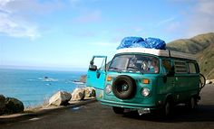 Westy camping along the PCH...now that would be a memorable family adventure!!