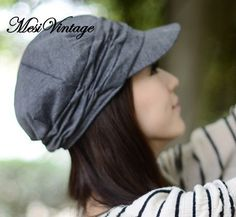 WORLDWIDE FREE SHIPPING Spring and Winter Gorro Cap by MesiVintage, $16.00 grey please