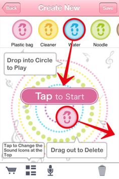 """BabyTune """"Create Soothing Sound"""" page"""