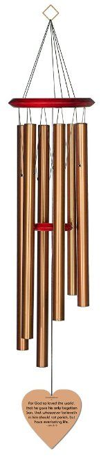 Chimesofyourlife john316-heart-35-bronze John 3:16 Heart Memorial Wind Chime, 35-Inch, Bronze #WindChimes #Bronze #Chimesofyourlife