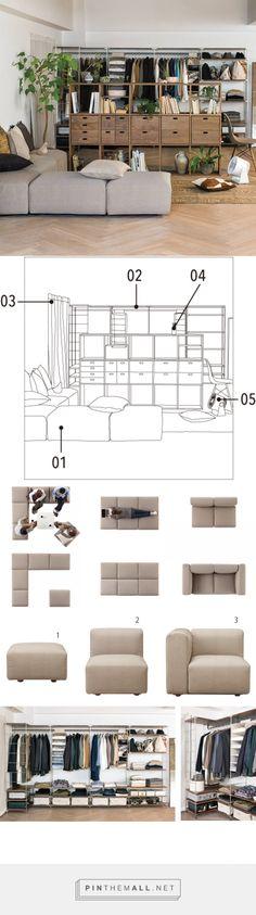 Sala de estar | Compact Life | MUJI Minimalist Apartment, Minimalist Decor, Casa Muji, Muji Home, Muji Style, Flat Interior, Home Studio, Apartment Living, Tokyo Apartment
