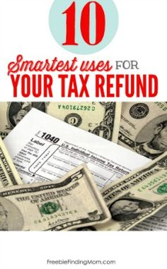 Expecting a tax refund check but not sure what to do with it? Here are ten of the smartest uses for your tax refund check. Spend it wisely! Ways To Save Money, How To Raise Money, Money Tips, Money Saving Tips, Tax Refund, Tax Deductions, Income Tax Return, Money Challenge, Budgeting Finances