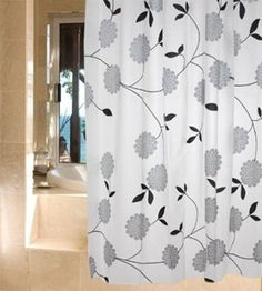 No Odor PEVA Bathroom Soft Touch Waterproof Mould Proof Shower Curtain with 12 hooks Bathroom Shower Curtains, Hooks, Eco Friendly, Pattern, Stuff To Buy, Leaves, Decoration, Awesome, Curtains