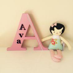 Custom letter nursery decor for Ava