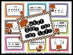 What Does the Fox Say - this is so cute, it makes me wish I taught rhythms this way!