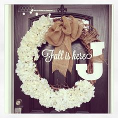 For Becca {fall wreath} forget the letter, fill it full with flowers