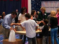 First Lady and Dr. Biden Volunteer with USO