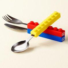 Kids lego utensils that stack
