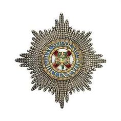 Order of St. Patrick Star, 81mm. diam, reverse engraved Storr&Mortimer, Jewellers to the Queen, mid 19th century. Almost certainly Ulick John de Burgh, 1st Marquess of Clanricarde.