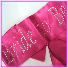 Hen's Night Bride To Be Sash. For the Bride that wants to have fun on her Hens Night.