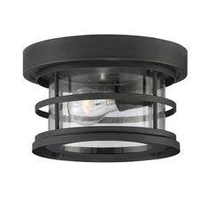 Barrett Black One-Light Outdoor Flush Mount