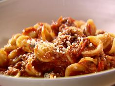 Weeknight Bolognese Recipe : Ina Garten : Food Network I added mushrooms with the garlic.