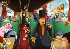 So many video game characters...! <<<< The fact that they included Star Fox, Pikmin AND Professor Layton brings me hope.