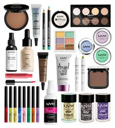"""NYX COSMETICS WISH LIST 🌟"" by lishargh on Polyvore featuring beauty, NYX and Charlotte Russe"