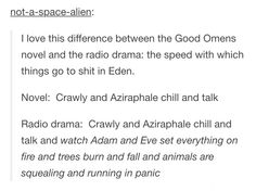 Good omens book vs radio drama