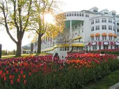 """Grand Hotel, Mackinaw Island, Michigan....from the movie, """"Somewhere in Time"""" with Christopher Reeve and Jane Seymour.  <3"""